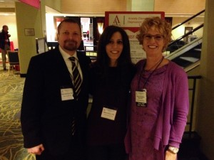 Dr. Brian Schmaus, Dr. Maha Zayed & Dr. Karen Cassiday at the ADAA annual meeting